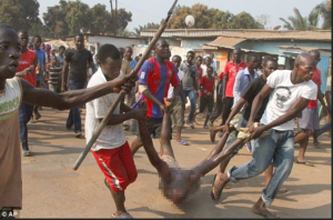 Man Runs Mad at Jacob Juma's Burial