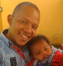 OJ Tahidi High and his son