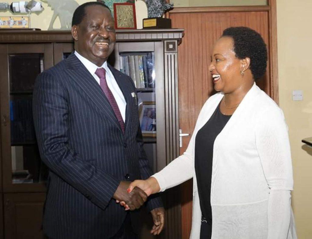 Raila meets Anne Waiguru